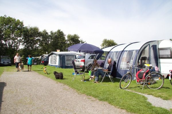 Camping-Frühjahr